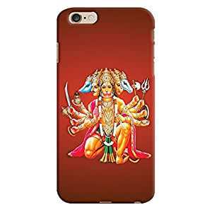 ColourCrust Apple iPhone 6 Plus Mobile Phone Back Cover With Devotional Punch Mukhi Hanuman - Durable Matte Finish Hard Plastic Slim Case