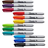 Sharpie Fine Point Permanent Markers, 12 Colored Markers(30072)