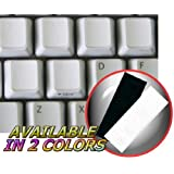 BLANK KEYBOARD STICKERS ON WHITE BACKGROUND