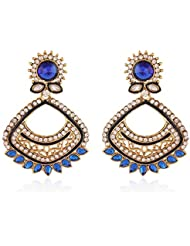 Rich Lady Lavish Gold Plated Jewellery Earring For Women, RLDER-514
