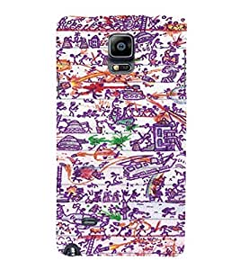 EPICCASE Abstract Art Mobile Back Case Cover For Samsung Galaxy Note 4 EDGE (Designer Case)