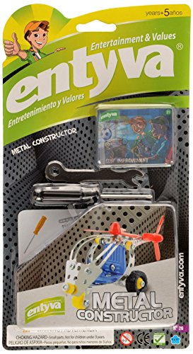 Metal Constructor Toy - Tools  Included - Construction Assembly Set ( Assorted Styles- May Vary) - Entyva