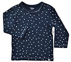 Long Sleeve Silver Star Print Top, 95% Cotton 5% Elasthan (to fit height 68-74cms)