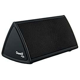 The OontZ Angle Enhanced Edition : The Ultra-Portable Wireless Bluetooth Speaker by Cambridge SoundWorks with up to 12-hour battery playtime, great sound, surprising volume and built-in microphone for hands-free speakerphone calls. Perfect for your iPhone 6, iPhone 6 Plus, iPad, Samsung, and tablet. Matte Black with Black Grille