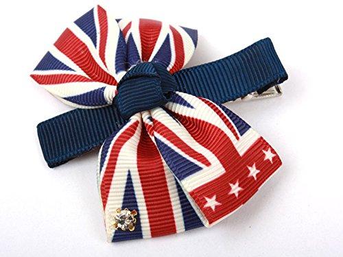 英国旗 蝶リボン ヘアピン ファッション 髪飾り レディース 子どもなど