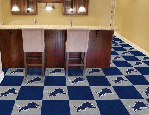 """Detroit Lions NFL Carpet 18""""x18"""" Tiles"""