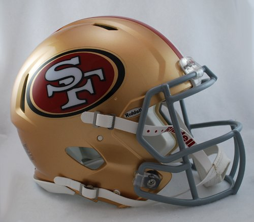 NFL San Francisco 49ers Speed Authentic Football Helmet at Amazon.com