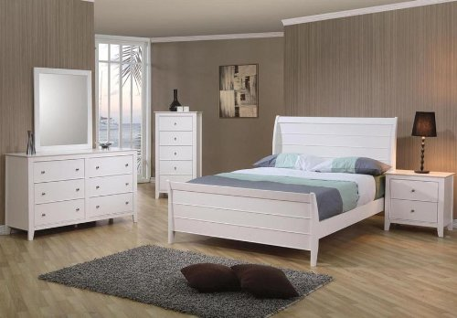 Best Deals !!! Check Today U0026 Read Reviews Before Buy. 4pc Full Size Sleigh  Bedroom Set Cape Cod Style In White Finish