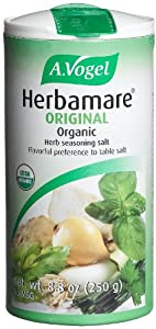 A. Vogel Herbamare Original Natural Fine Sea Salt with Organic fresh herbs and vegetables, 8.8-Ounce Containers (Pack of 2)
