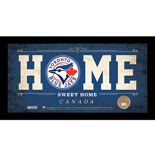 mlb-toronto-blue-jays-home-sweet-home-sign-with-game-used-dirt-from-rogers-centre-6-x-12-blue