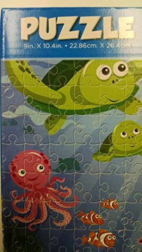 100 Piece Cartoon Sea Creatures Jigsaw Puzzle