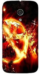 Great multicolor printed protective REBEL mobile back cover for Motorola Moto G (2014) 1st Gen D.No.N-L-10835-MG1