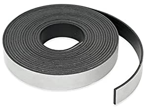 "Roll-N-Cut Flexible Magnet Tape Refill - 1/16"" thick x 1/2"" wide x 15 feet. (1 roll)"