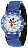 Disney Kids' W000228 Time Teacher Watch with Blue Nylon Band