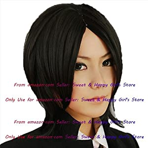 NEW fashion HOT sexy Black Straight Anime cosplay wigs party Masquerade girls 35CM