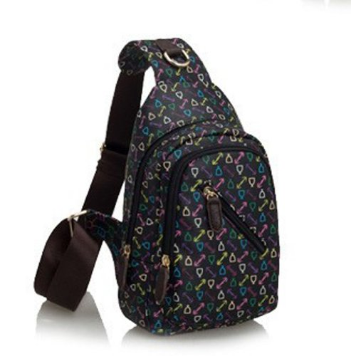 Classic Fashion Women Korea Simple Style Pu Leather Clutch Handbag Bag/Shoulder Strap745 (Black 1)