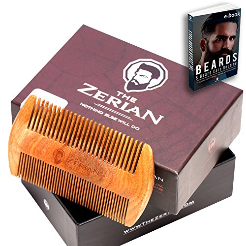 Beard-Comb-Fine-Coarse-Tooth-Handmade-Genuine-Sandalwood-Brush-for-Hair-Smells-Amazing-Anti-Static-For-Stylish-Beard-Mustache-Grooming-Best-Premium-Giftbox-Set-BONUS-a-Digital-Booklet