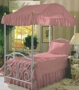 Amazon Com Full Size Solid Rose Pink Canopy Top Fabric