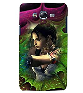 PrintDhaba Bold Girl D-4618 Back Case Cover for SAMSUNG GALAXY J7 (Multi-Coloured)