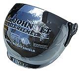 スモールジェットヘルメット バブルシールド付 (全10色) 専用 ミラーシールド