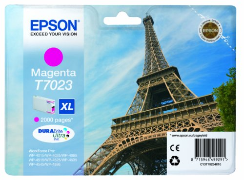 EPSON Eiffel Tower T7023 XL Magenta Ink Cartridge