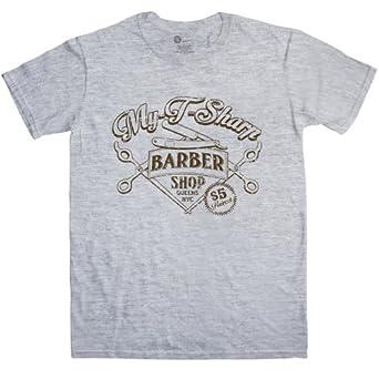 Refugeek Tees - Hommes My T Sharp Barber Shop T Shirt - Small - Sport Grey