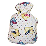 Warm Tradition FLYING LAMBS Flannel Cover for CHILD/TRAVEL SIZE Hot Water Bottle - COVER ONLY- Made in USA