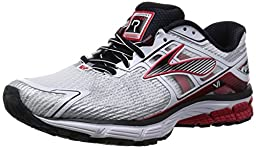 Brooks RAVENNA 6 mens running-shoes 110186 (8.5, Wht/Highriskred/Blk)