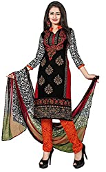 Fashions World Fancy MultiColor Crepe Dress Material