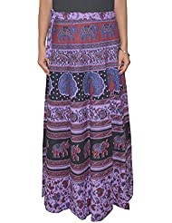 Gurukripa Shopee Women's Cotton Wrap-around Skirt (Multicolor) - B01I1DAPI4