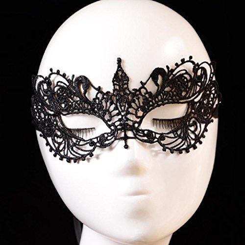 Eenkula 2016 Femmes Dames Dentelle Noire Masque De FêTe Floral, DéCoupe Oeil Masque Mascarade Masque. êTre La Reine Du Parti