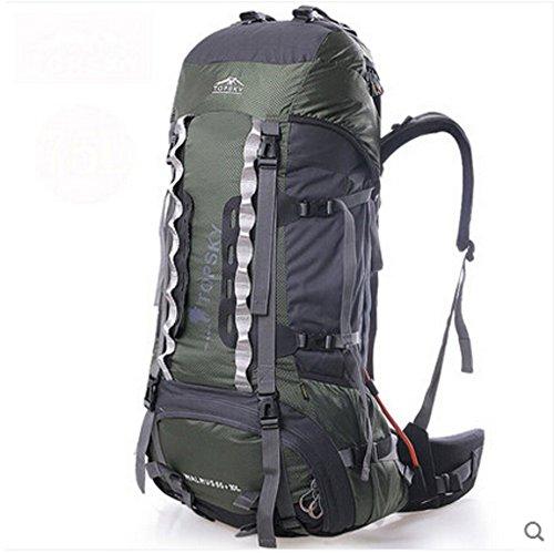 Sac d'escalade en plein air / grand sac à dos de la capacité / sac à dos de randonnée-Army Green 75L
