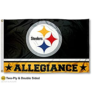 Pittsburgh Steelers Double Sided Allegiance Flag at Steeler Mania