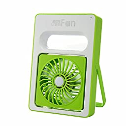 Mystery USB Mini Portable Exqusite Fan Personal Battery Operated Handheld USB Fan Summer Cooling Fan USB Rechargeable Mini Fan for Home, Outdoors, or Travel Use (Green)