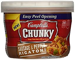 Campbell\'s Chunky Soup, Sausage & Pepper Rigatoni, 15.25 Ounce (Pack of 8)