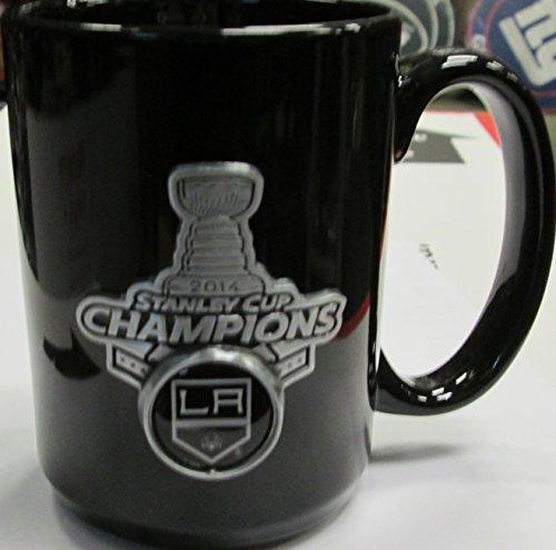Nhl Los Angeles Kings 2014 Stanley Cup Champ Mug 15 Oz All Black
