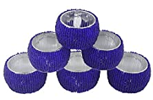 buy Set Of 6 - Napkin Rings Pack Hollow Out Round Napkin Rings For Wedding Party Holiday Dinner - Dia 2.5 Inches