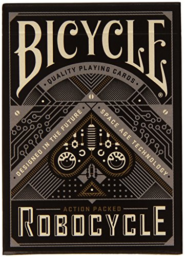 Bicycle Robocycle Playing Cards (Black) - 1