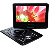"""DBPOWER® 9.5"""" Portable DVD Player with Swivel Screen, Supports SD Card and USB, Direct Play in Formats MP4/AVI/RMVB/MP3/JPEG_(NS969B,Black)"""