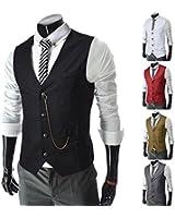 SPRINGWIND Men's Formal Vest Casual Waistcoat Dress Vests Jackets