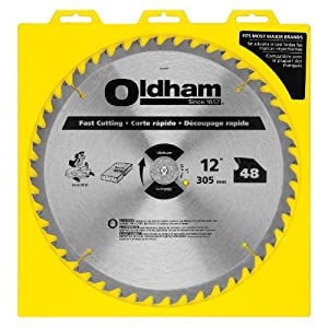 Oldham 12048tp all purpose 12 inch 48 tooth atb general for 12 table saw blades