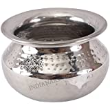 IndianArtVilla Steel Serving Briyani Handi|560 ML Capacity|Serving Briyani Dishes|Home Hotel