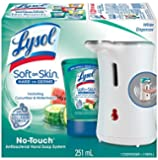 Lysol No-Touch Soft on Skin Antibacterial Hand Soap System, White; Hydrating Cucumber & Watermelon Refill