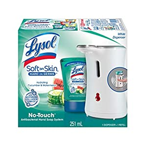 Lysol Healthy Touch No-Touch Hand Soap System,Soothing Cucumber Splash,1 kit (251 ml)