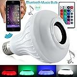 Tragbarer Bluetooth 4.0Wireless Smart LED-Lampe E27Lampe Beleuchtung W/integrierter Musik Lautsprecher Smartphone Kostenlose App Steuerung über Apple iPhone Android-Geräte für Home & Office
