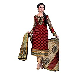 Miraan Womens Cotton Unstitched Dress Material (Sg719 _Red)