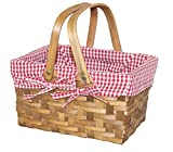 Search : Vintiquewise(TM) Rectangular Basket Lined with Gingham Lining, Small