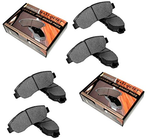 Front and Rear Low Dust Ceramic Pads - for 2010 Dodge Challenger SE (Dodge Challenger Breaks compare prices)