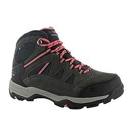 Hi-Tec Women\'s Bandera Mid II WP Hiking Boot, Charcoal/Graphite/Blossom, 9.5 M US