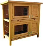 Bunny Business Double Hutch Guinea Pig with Sliding Tray, 36-inch